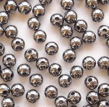 Black Plated Beads 3mm Round - 100